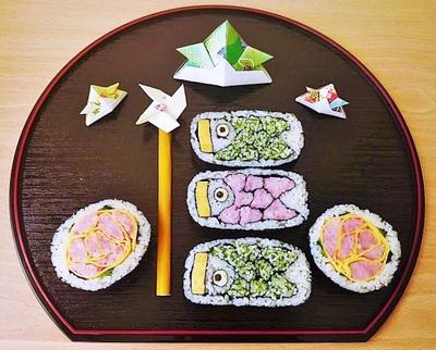飾り巻き寿司教室(鯉のぼりと薔薇)