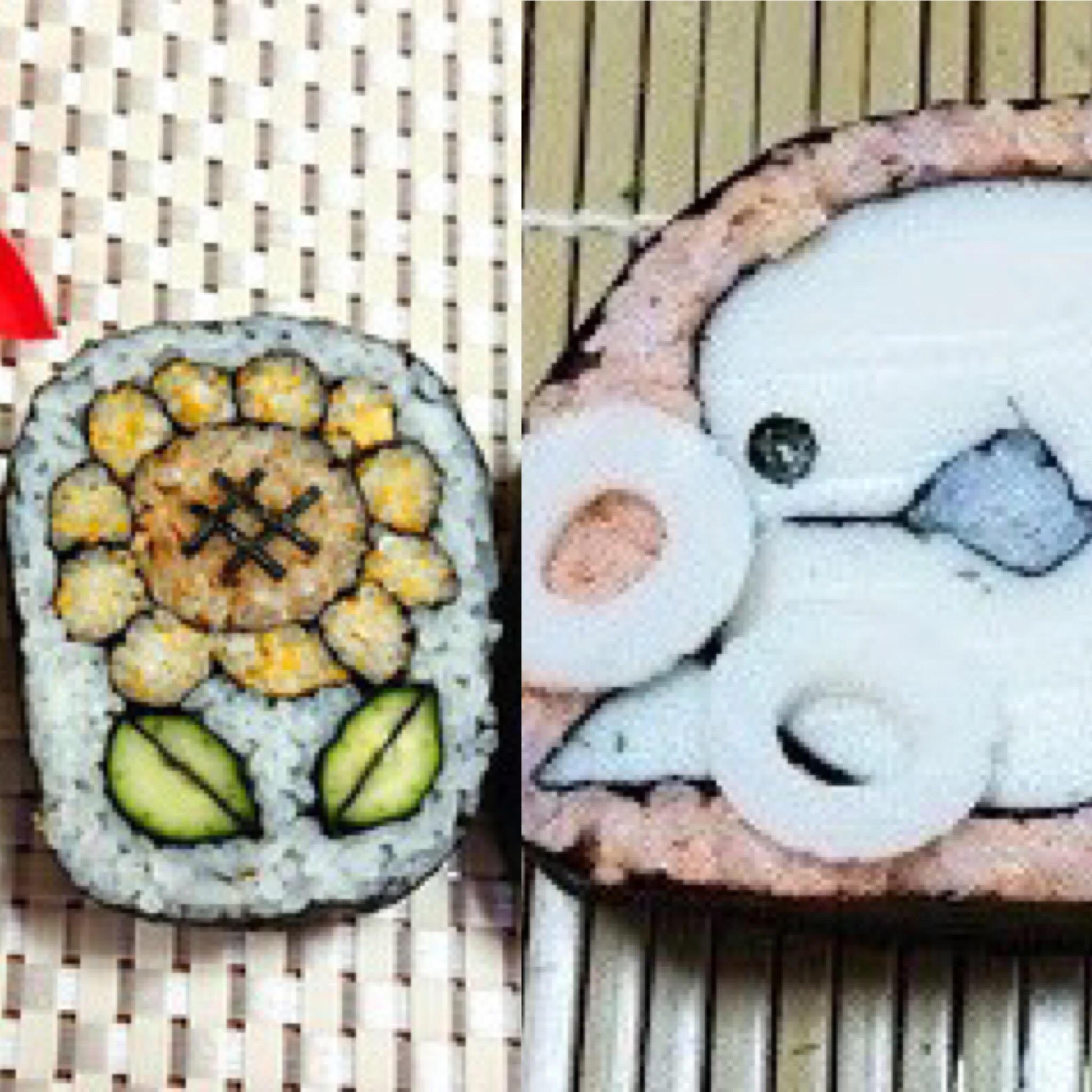 飾り巻き寿司教室(ひまわりと白イルカ)