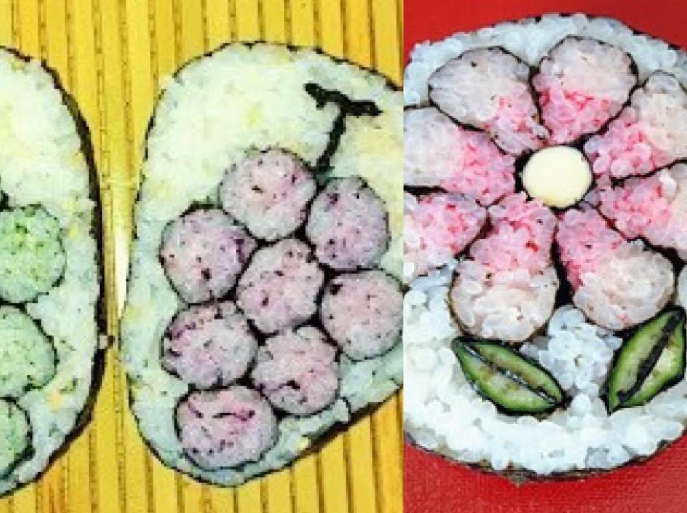 飾り巻き寿司教室(ぶどうとコスモス)