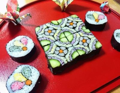 飾り巻き寿司教室(四海巻きと羽根つきのはね)