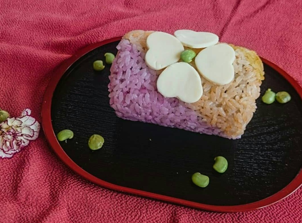 飾り巻き寿司(母の日ロール寿司)